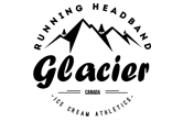 ice cream GLACIER Running Headband, Brand Logo
